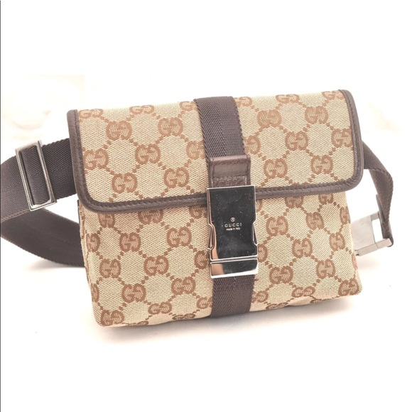 b3871a774 Gucci Bags | Waist Bum Bag Canvas Brown Fanny Pack | Poshmark